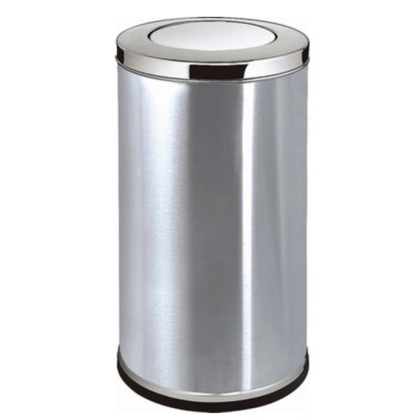 搖蓋式垃圾桶(不銹鋼原色_小)