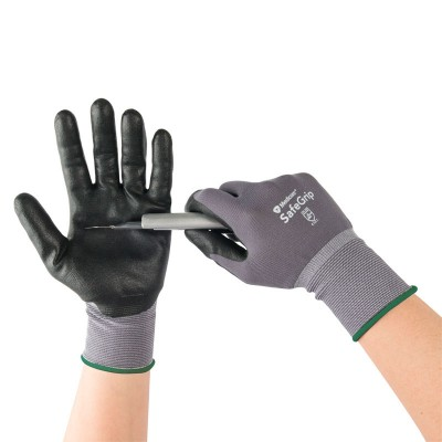 Medicom/麥迪康勞保手套工作透氣皮手套防滑加厚耐磨丁腈