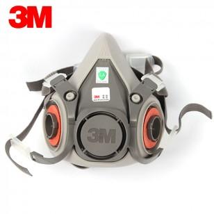 3M6200單面具防毒面具多功能防護防塵面罩工業裝修噴漆面具半面罩