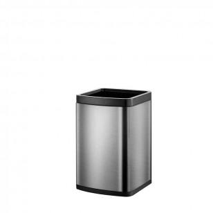 冇蓋鋼色款簡約垃圾桶