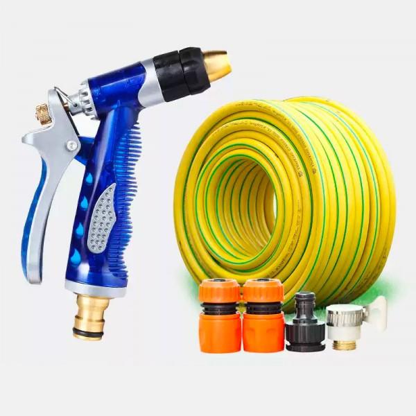 豪華6分水管澆花金屬水槍塑料接頭套裝