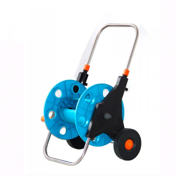 50米家用澆花伸縮水管車洗車套裝手推式水管水車收納架園藝工具
