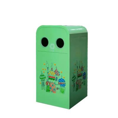 金柯戶外環保垃圾桶公園景區可貼廣告果皮箱小區可定制果皮桶