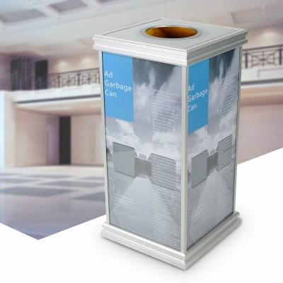 金柯廣告垃圾桶歐式垃圾箱果皮箱商場收納桶室內不銹鋼酒店垃圾筒
